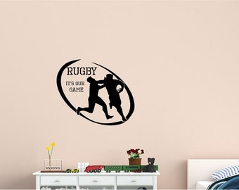 Wall Decal Rugby Wall Decal - Wall Sticker - Home Wall Decal - Office Wall Decor