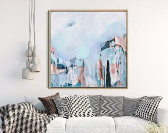 Abstract Painting Print, Giclee Print, Blue Abstract, Abstract Canvas Print, Living room Abstract, Modern Art Abstract, Wall Decor
