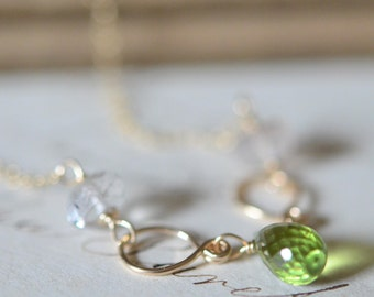 Peridot with Moss Amethyst Necklace