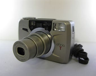 Vintage Pentax efina T Advanced Photo System Outfit with Strap, Manual, and APS Film