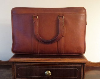 Etsy BDay Sale Coach Embassy Briefcase In British Tan Leather Made In The Factory In NYC Style No 5090