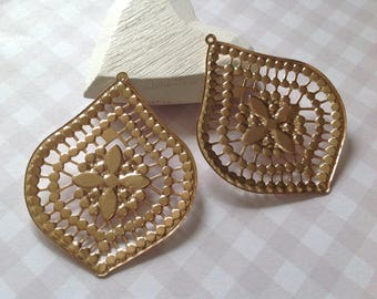 Prints filigree drops X 2 Gold kc 57 x 46 mm