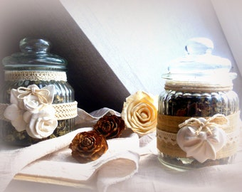 Fluted glass jars