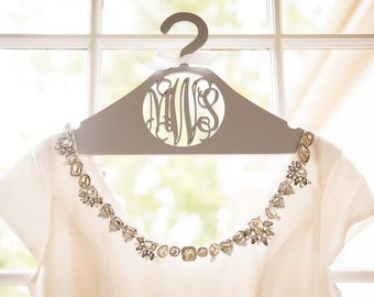 Monogram Hanger - Personalized Wedding Dress Hanger - Bride's Hanger - Bridesmaid's Gift - Gift For The Bride - Bridal Party