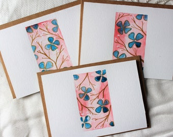 Floral Watercolor Note Cards, Floral Greeting Cards, Blank Floral Card, Just Because Card, Friendship Card, Floral Note Card Set