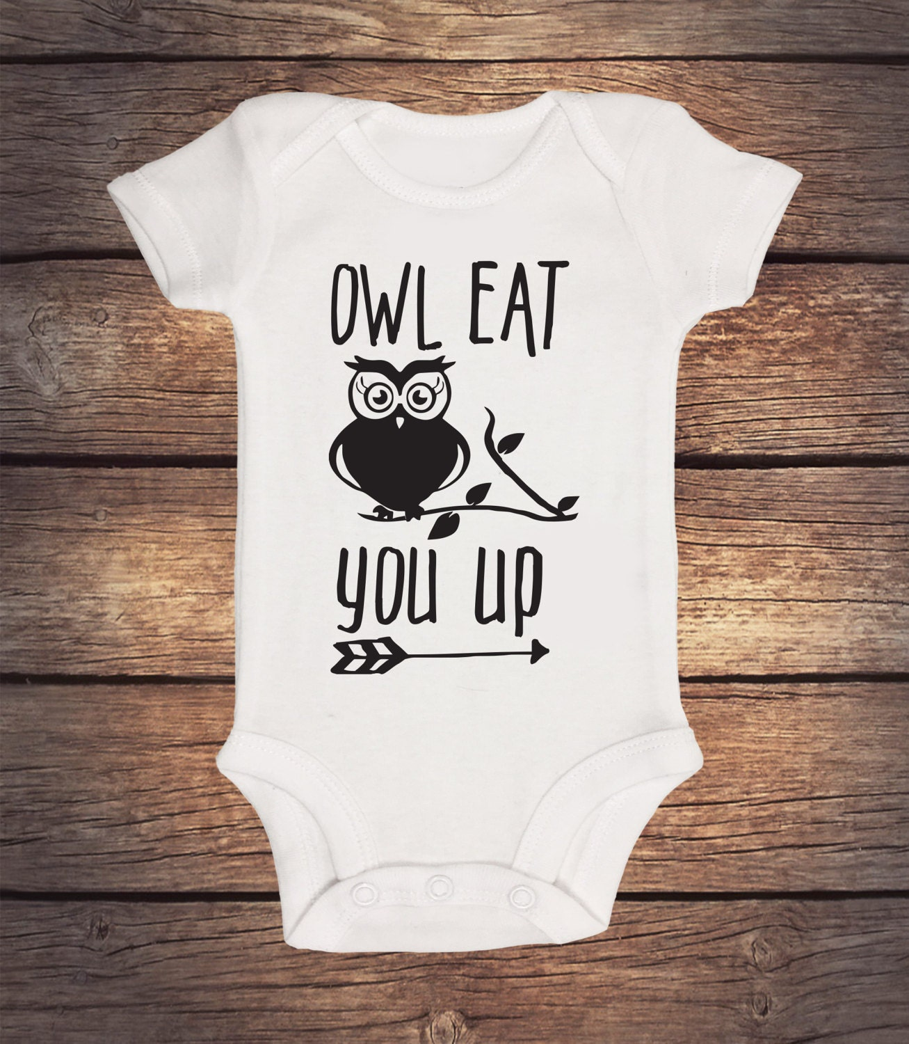 Owl Eat You Up esie Baby Boy Clothes Baby Girl Clothes