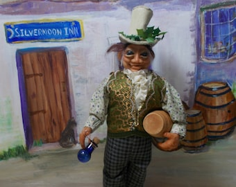 """Completely handmade art doll Publican/Tavern/downright drinking companion  """"Terry Tickseed"""" SALE 25% OFF"""