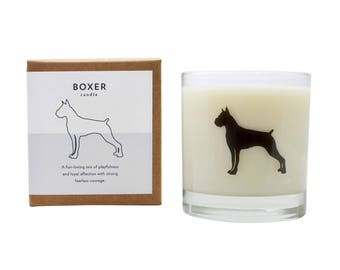 Boxer Soy Candle Soy Candle Boxer Candle Boxer Dog Gift Scented Soy Candle Pet Loss Gift Dog Lover The Original Scripted Fragrance Candle
