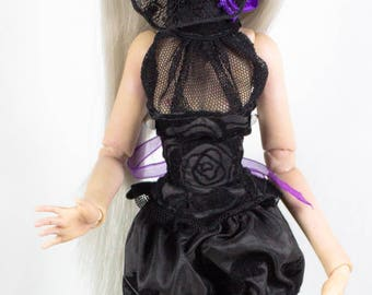 Barbie dress, dress BJD doll set Corset bloomers OOAK