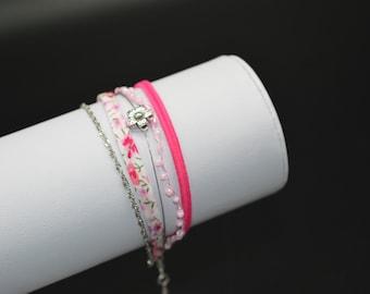 Pink bracelet MULTISTRAND M152