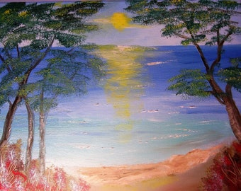 Oil Painting No: 057- Sunrise to Beach.