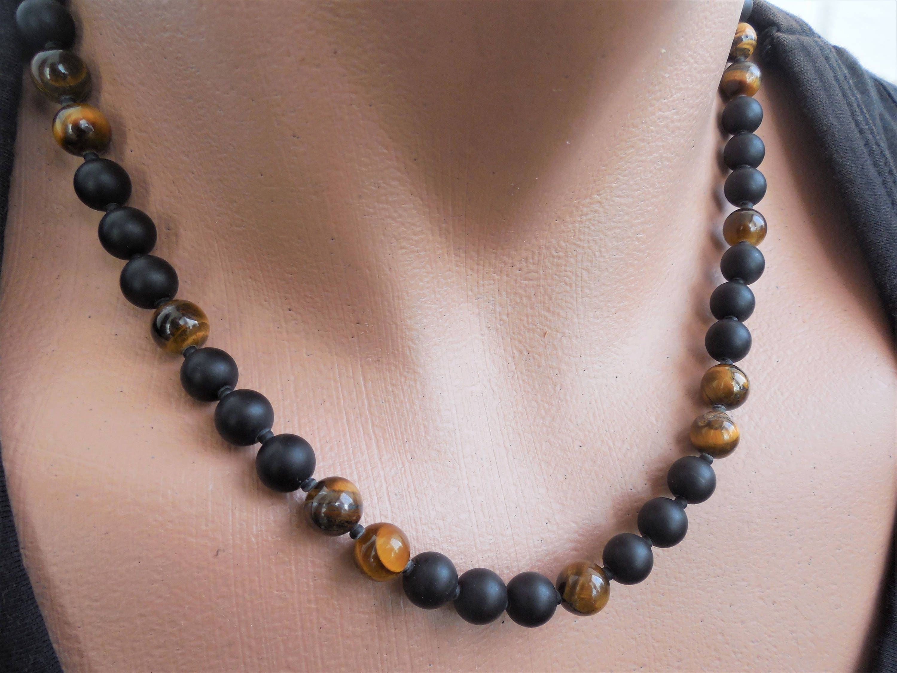 look necklace chains th neiman marcus beads onyx mz quick