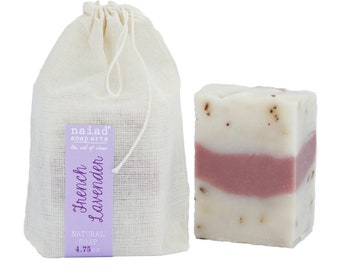 French Lavender Shea Butter Soap - All Natural Handmade Soap - Vegan and Cruelty Free - Sustainable Palm