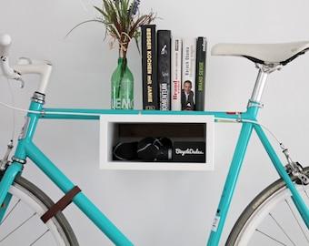 "Bicycle wall mount ""Oskar"" Made of wood | Bikeshelf · Bikerack"
