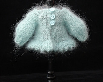 pdf pattern - Mohair puff sleeved cardigan for Blythe
