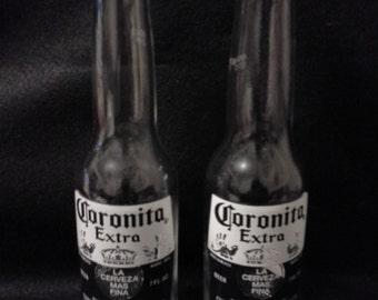 Coronita Salt & Pepper Shakers, Beer Shakers, Beer Bottle Salt and Pepper Shakers, Corona