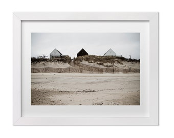 Large Wall Art, Beach Landscape Photography, Montauk in the Fall, Architecture Fine Art Print, Nature Print, Beach Print, Montauk Print