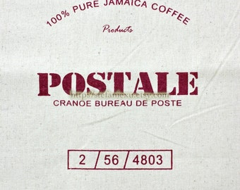 Unique Linen Collection-Dark Red Jamaica Coffee POSTALE (1 Panel, 13x17 inches)