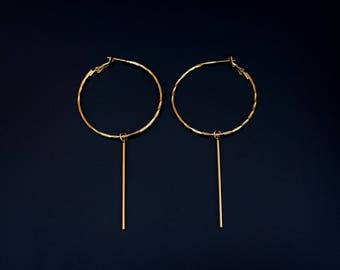 Stacey Hoops (gold bars)