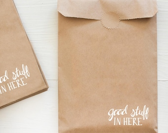 kraft paper gift bag - good stuff in here