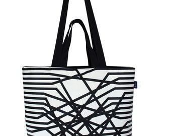 Tote strap connected
