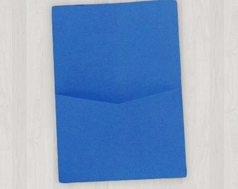 10 Flat Pocket Enclosures - Blue - DIY Invitations - Invitation Enclosures for Weddings and Other Events