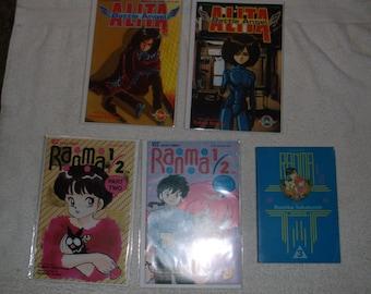 sci-fi comics-ranmi 1/2-lot of 5-1990s-GD