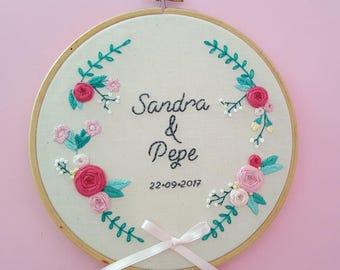 "Wedding Hoop ""Flora"""
