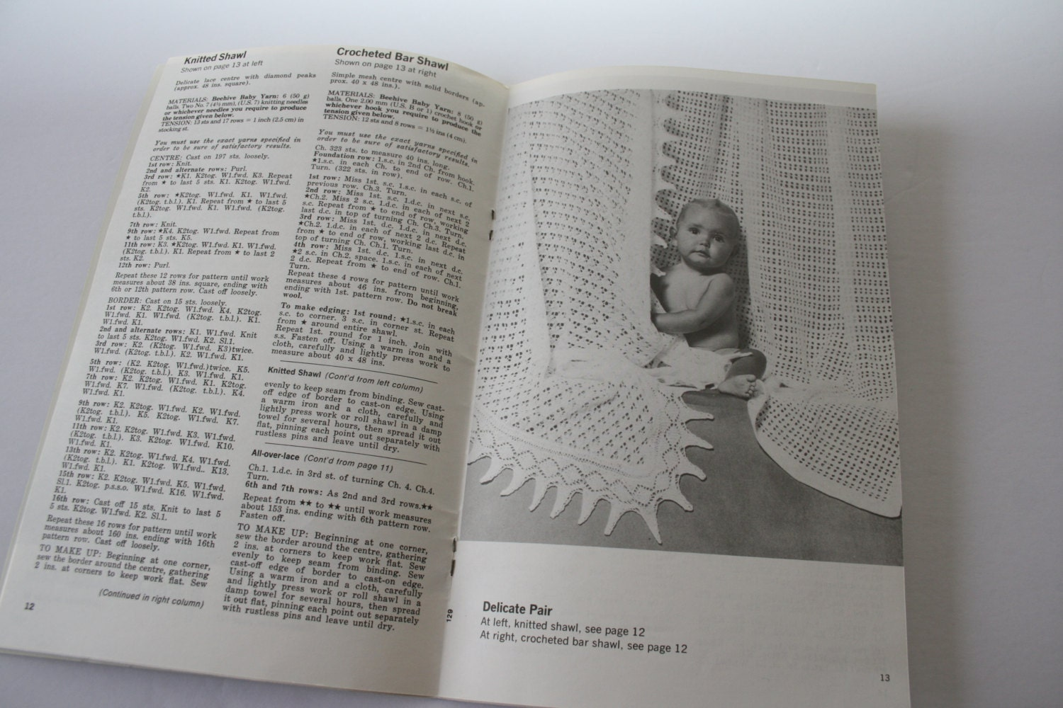 NOT a pdf - a book! Knitting and Crocheting BABY SHAWL patterns ...