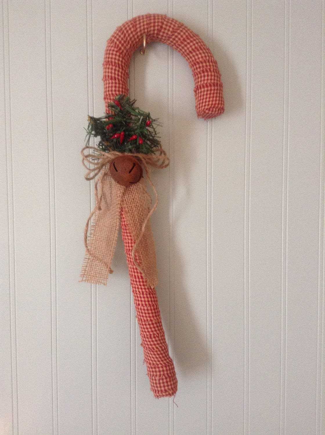 zoom Primitive fabric wrapped candy canes 18