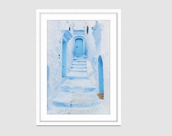 Made-to-order Street Photography Blue Wall Art Prints