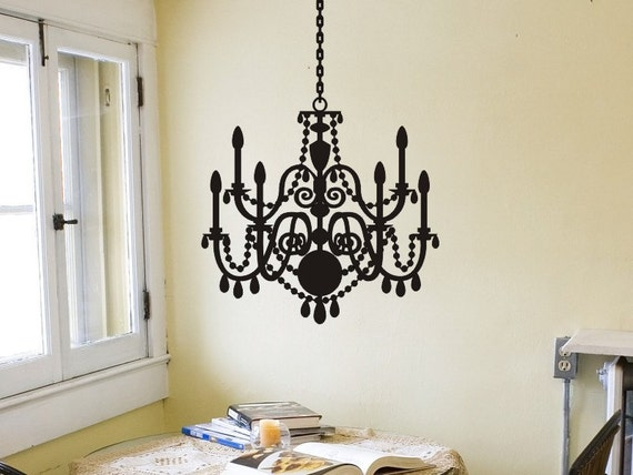 Living room wall decor chandelier wall decals master like this item aloadofball Choice Image