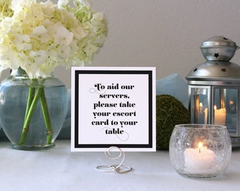 Romantic Wedding Deco Sign Printable Escort Card