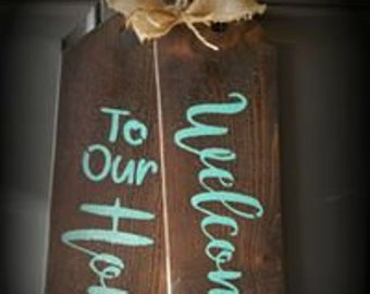 Wood Welcome Tags