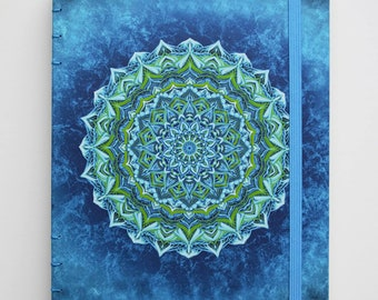 notebook paper, journal, coptic, handmade, recykled paper, thick boards, 100 pages