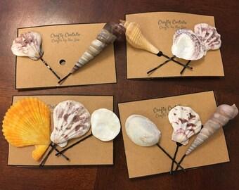 Shell Hair Pins!