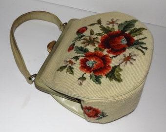 Vintage Rosen Needlepoint Handtasche 1950 Handtasche