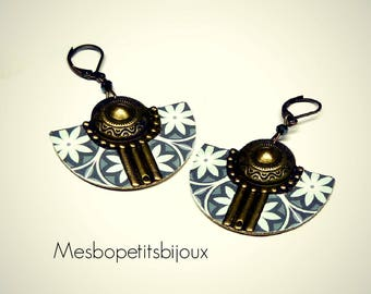 Bohemian style earrings, mosaic inspiration