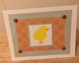 Yellow Chick Easter Card
