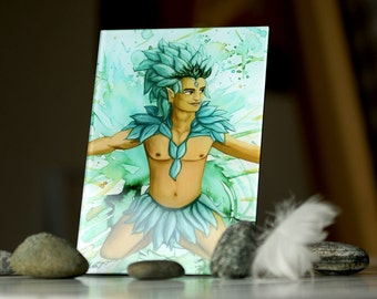 High Quality Fairy Art Print *Fairy Man Virgiliaborén* (photo under acrylic glass with stand)