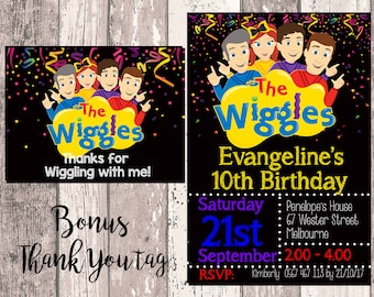 Wiggles Invitation Wiggles Birthday Party Invitation Wiggles