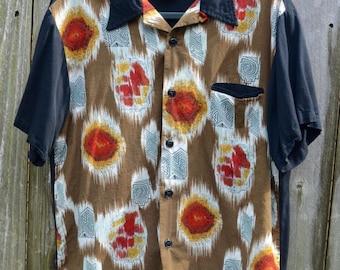 Men's shirt // Retro Shirt // 90's Lounge Shirt