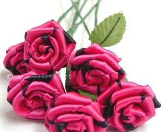 Fuchsia Pink Rose Bouquet