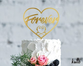 Anniversary cake topper- Customizable Wedding Cake Topper- Personalized wedding Cake Topper- Forever and Eternity cake topper