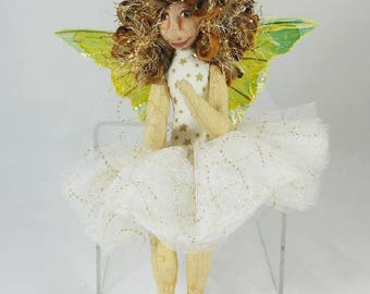Art Doll-Khani the Sprite OOAK Cloth Doll Faery