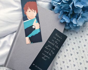 Ed Sheeran Book hug bookmark