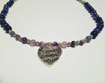 Serenity Prayer & Amethyst Necklace