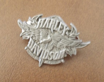 Vintage~Large~Harley Davidson Pin~Harley Jewelry~Biker accessorie~Motorcycle Pin~Genuine Harley~Jacket Vest Pin~Biker Gift~USA