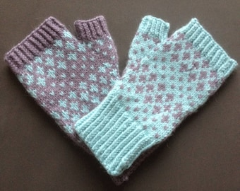 Wool and Alpaca FINGERLESS Mittens