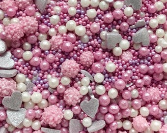 Pretty n Pink sprinkle mix. Cake decorating, cupcake sprinkles, pretty n prink.